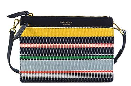Kate Spade Cameron Boardwalk Stripe Convertible Zip Crossbody Bag Purse Handbag, Multi