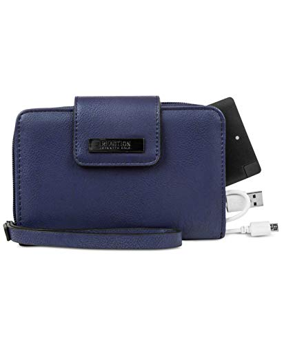 Kenneth Cole Reaction Never Let Go Tech Tab Wristlet with Charger (Dark Blue)