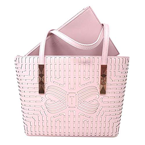 Ted Baker – Cut Out Bow Shopper Breeana Handbag – Light Pink