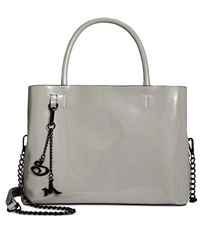 Steve Madden Ruby Patent Light Grey Satchel