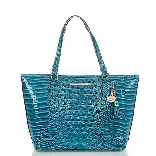Brahmin Asher Leather Tote Lagoon