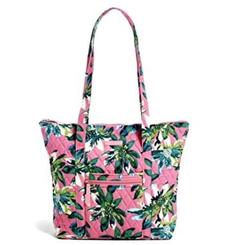 Vera Bradley Villager with Solid Interiors (Tropical Paradise with Blue Interior)