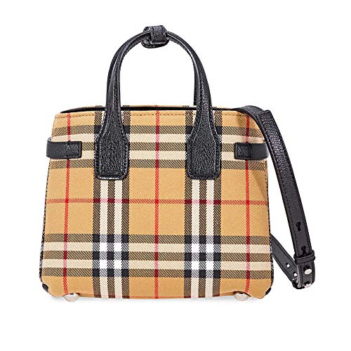 Burberry Baby Banner Vintage Check Crossbody Bag- Black
