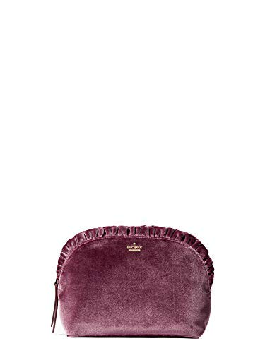 Kate Spade Marcy Dawn Place Velvet Clutch Women's Bag Deep Plum