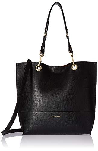 Calvin Klein Sonoma Reversible Novelty North/South Tote Bag, Black