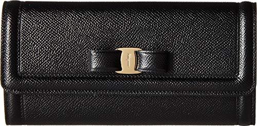 Salvatore Ferragamo Women's Vara Leather Continental Wallet Nero One Size