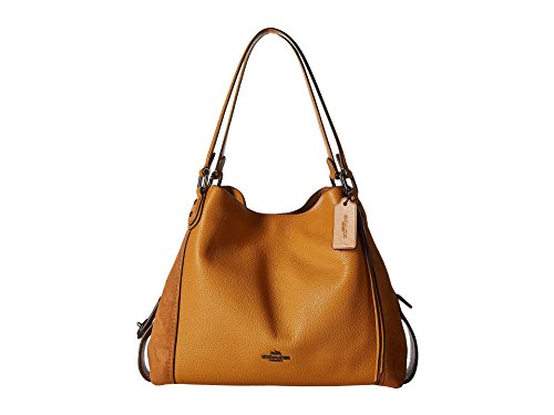 Coach Edie Ladies Medium Leather & Suede Shoulder Bag 59500