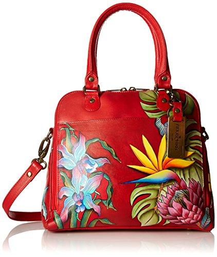 Anuschka Women's Satchel Handbag | Genuine Leather | Island Escape