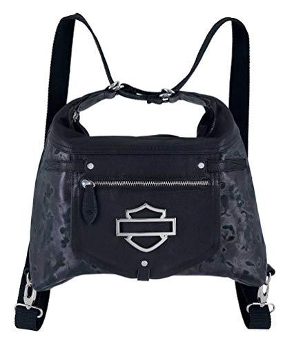 Harley-Davidson Women's Slick Change Dual Use Purse Backpack HDWBA11391-BLK