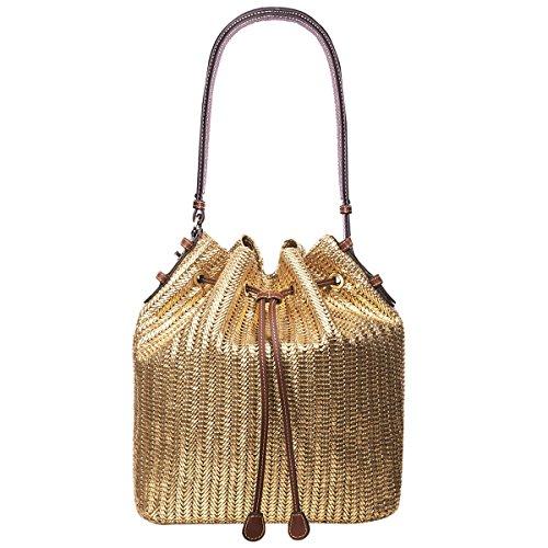 Eric Javits Luxury Fashion Designer Women's Handbag – Ami – Gold