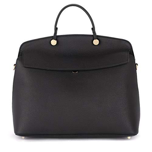 Furla Women's Furla My Paper M Black Leather Handbag Black