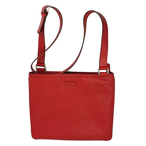Gucci Diamante Red Leather Cross Body Shoulder Bag 201446 AIZ1G