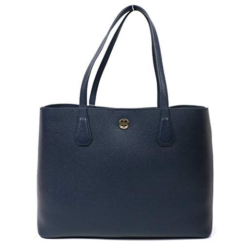 Tory Burch Brody Tote Leather Royal Navy