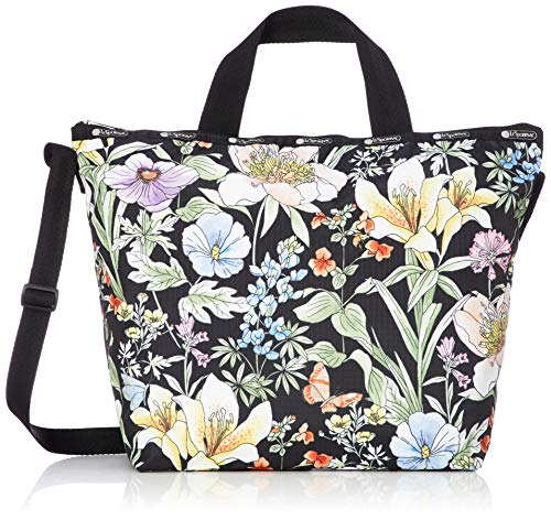 LeSportsac Botanically Noir Easy Carry Tote Crossbody + Top Handle Handbag, Style 2431/Color F102