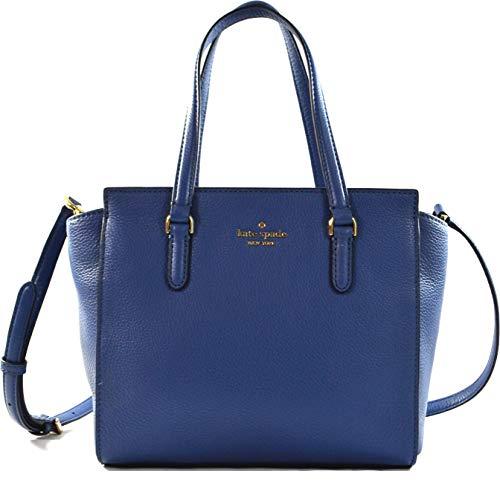 Kate Spade Jackson Soft Leather Medium Satchel Crossbody Bag Purse Handbag, Blue