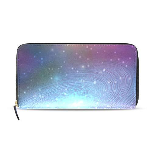 Womens Wallets Blue Galaxy Leather Passport Wallet Coin Purse Girls Handbags