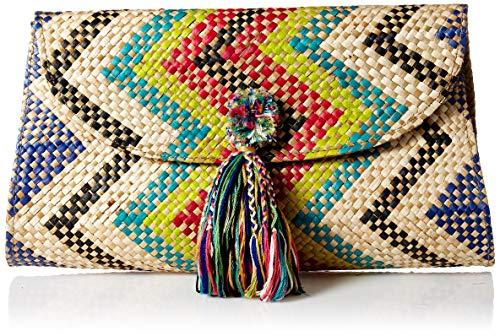 Natori Women's Woven Clutch, MULTI, O/S