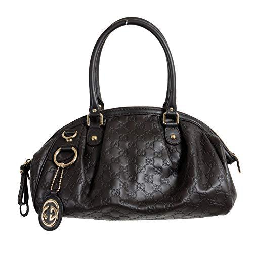 Gucci Women's Dark Brown 100% Leather GG Print Bag