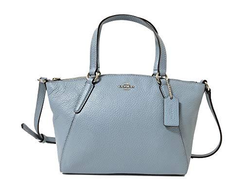 Coach Pebble Leather Mini Kelsey Satchel Crossbody Handbag (SV/Cornflower)