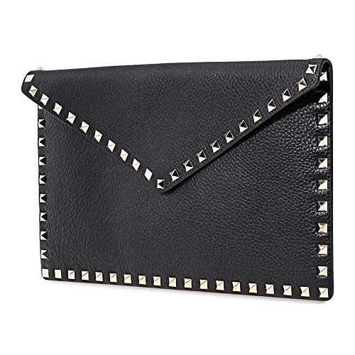 Valentino Leather Clutch- Black