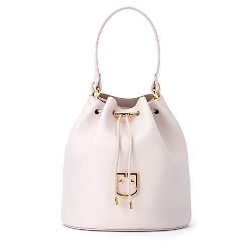 Furla Furla Bucket Bag Model Corona S In Linen-colored Leather Beige