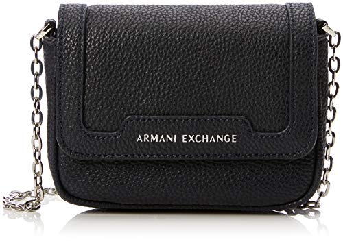 A|X Armani Exchange Chain Strap Small Crossbody Bag, Navy 254