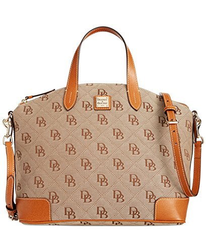 Dooney & Bourke Americana Signature Gabriella Satchel,Natural