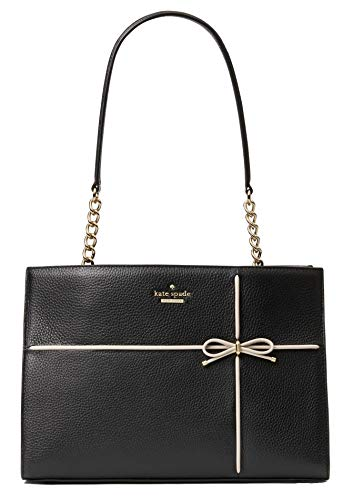 kate spade new york Cherry Street Small Phoebe Leather Tote, Black Cement