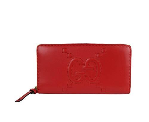Gucci Women's Apollo Red Leather Zip Around Wallet 453393 6433