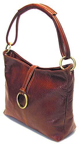 Floto Tavoli Tote, Leather Handbag in Vecchio Brown