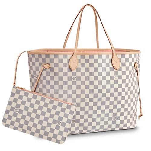 Leather House V Style Bags Women Handbag Tote GM Shoulder Bag White(Pink) 40x32x20cm