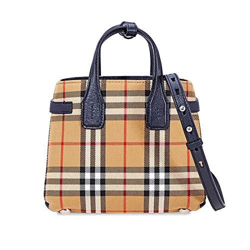 Burberry Baby Banner in Vintage Check and Leather- Regency Blue