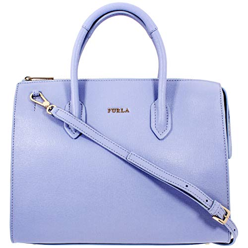 Furla Pin Ladies Medium Blue Leather Satchel Bag 1008777