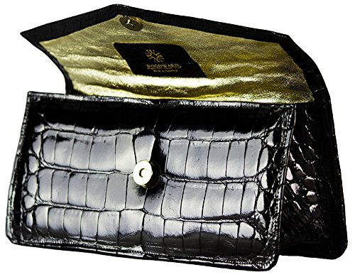Black Formal Alligator Clutch by John Allen Woodward