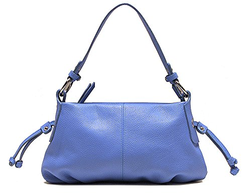 Milano Women's Leather Satchel Handbag in Blue