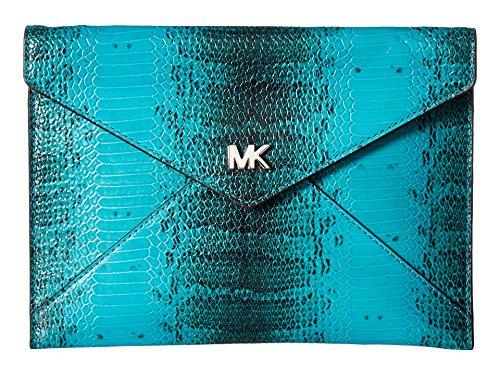 MICHAEL Michael Kors Barbara Medium Soft Envelope Clutch, Tile Blue
