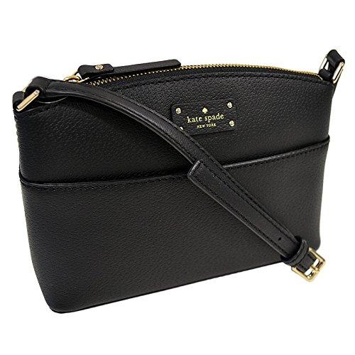 Kate Spade New York Millie Grove Street Black Leather Crossbody Womens Bag WKRU4194 black(001)