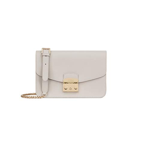 Furla Metropolis Ladies Small White Perla Leather Shoulder Bag 978672