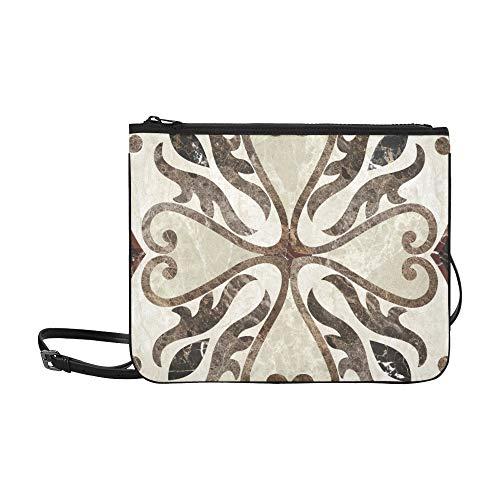 Antique Decor For Floor Or Wall Pattern Custom High-grade Nylon Slim Clutch Bag Cross-body Bag Shoulder Bag