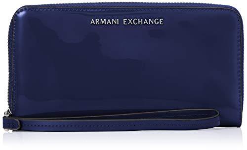 A X Armani Exchange Women's Round Zip Wrislet, navy – navy 14