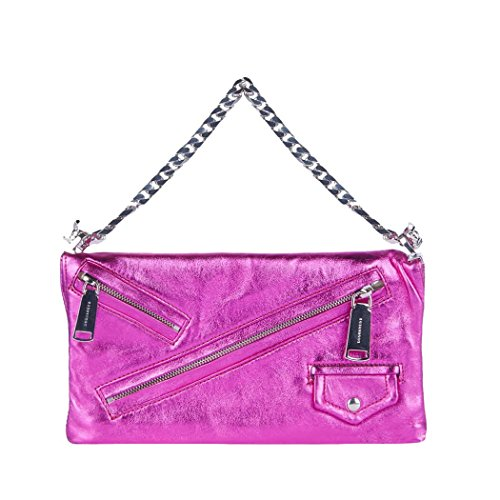 DSQUARED2 CLUTCH BABE WIRE LAMINATED LEATHER BAG