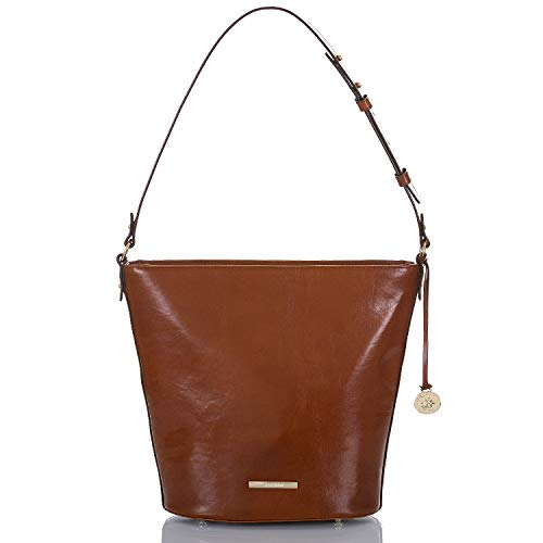 Brahmin Pipp Binocular Leather Crossbody Bag, Whiskey Topsail