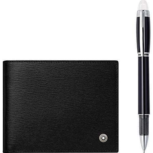 Montblanc Starwalker Set Resin Black Fineliner Pen and Wallet 118906