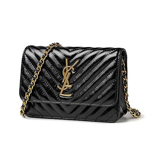 Fashion Quilted Shoulder Purse Crossbody Bag Quilted Shoulder Purse with Golden Chain Strap for Women & Girls