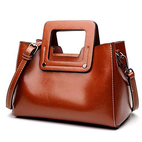 Leather Top Handle Bags for Women Vintage Satchel Hobo Handbags Shoulder Bags for Ladies
