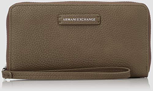 A|X Armani Exchange Women's Round Zip Wrislet, taupe – taupe 303