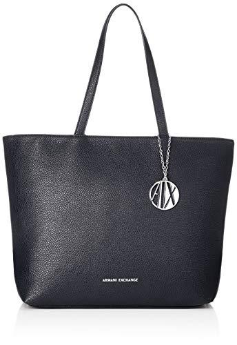 A X Armani Exchange Zip Top Shoulder Bag, Navy 25
