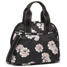 LeSportsac Peony Party Amelia Convertible Crossbody & Top Handle Tote Handbag, 2 Tone Stitched Strap, Style 3354/Color F083