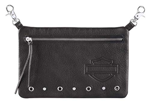 Harley-Davidson Women's Lolita Leather Hip Bag w/Strap – Black HDWBA11665