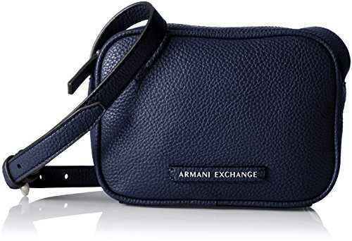 A|X Armani Exchange Camera Crossbody,Evening Blue,One Size